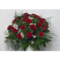 Bouquet of 35 Long Stemmed Red Roses